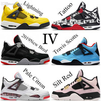 Wholesale pale green lace for sale - Group buy 2019 New Arrival Bred Pale Citron Tattoo IV s men Basketball Shoes What The Pizzeria Singles Day Royalty Mens trainers Sports Sneakers