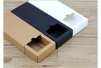 hochzeit karton großhandel-60pcs Karton Kraft Papier Schubbox Hochzeit Weiß Geschenk-Verpackung Papierkasten für die Schmucksachen / Tee / Handseife / Süßigkeit