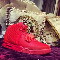 rote goldmänner kleiden schuhe großhandel-2019 Luxus-Designer Herren Fashion Basketballschuhe für Männer kleiden NRG Luft 2 SP II Faulenzer RED Oktober Plattform Turnschuhe GRAY Trainer läuft