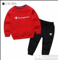 marca de suéter para niños al por mayor-NUEVO Baby Boys And Girls Suit Brand Tracksuits 2 Conjunto de ropa para niños Venta caliente Moda Primavera Otoño Vestidos para niños Suéter de manga larga IEW