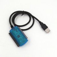 cabos usb para laptop dvd venda por atacado-SI02 USB 2.0 para SATA IDE Adaptador Conversor de Cabo para 2.5 Polegada 3.5 Polegada SATA HHD SSD Disco Rígido Laptop e DVD Cabo do Driver