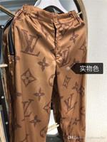 ingrosso potenza della signora-19ss luxury brand design classico Logo stampa khaki track Pantaloni donna Lady fashion sport Jogger Pantaloni sportivi Pantaloni esterni