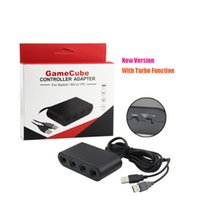 Wholesale Brand new Hot Selling Useful Adapter for GameCube Controller Adapter for Wii U PC Ninten do NS Switch with Turbo Function