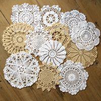 12 häkeltücher großhandel-Menge von 12 pro Design 1 Stück schöne glückliche Blume Häkelanleitung Deckchen ~ Durchmesser 7
