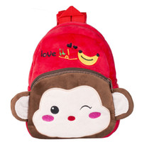 Wholesale plush monkey backpack for sale - Group buy New Baby Kids Cartoon Plush Backpack Schoolbag Shoulder Rucksack Toddler Bags Lovely Monkey Backpack For Boys Fashion