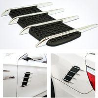 Wholesale plastic car vents resale online - Automobile Personailzed Car Sticker Simulation Vent Shark Gill Fake Vent Automobile Exterior Decoration Ornament Car Stickers For All Car