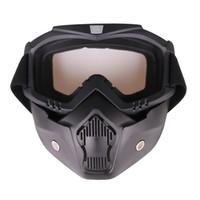 ingrosso pone occhiali-Occhiali da equitazione per motociclisti Occhiali con visiera rimovibile Occhiali da moto per motociclisti Occhialini da equitazione