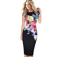 mutter braut gedruckt kleider großhandel-Womens Kleider elegante Blume gedruckt geraffte Flügelärmeln Rüschen lässig Brautjungfer Mutter der Braut Abendgesellschaft Kleid 236