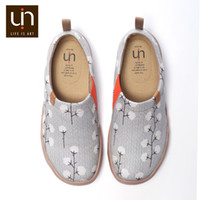 malerei frau nackt großhandel-UIN Nude Cotton Design Painted Slip-on Segeltuchschuhe Frauen Casual Loafers Breathable Travel Flats Sneakers