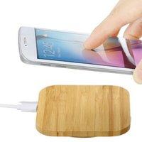 qi зарядное устройство оптовых-Qi Беспроводное зарядное устройство для зарядки Тонкий деревянный коврик для мобильного телефона Apple iPhone 8 8 Plus X Samsung