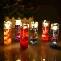 essentielle hochzeit großhandel-Hochwertige Aromatherapie rauchlose Kerzen Ozean Muscheln Gelee ätherisches Öl Hochzeit Kerzen romantische Duftkerzen Farbe zufällig ST128