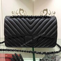Wholesale body types women for sale - Group buy Sell we Classic Fashion Women Handbag v type Shoulder Bags Genuine Leather Messenger Bag fashion Tote Bags with dustbag cm