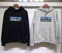 venda hip hop de camisola venda por atacado-Novas hoodies designer de marca Patagonia Moletons Homens Mulheres Moda Pullover Paisagem algodão Imprimir Casual hoodies dos homens hip hop Hot venda