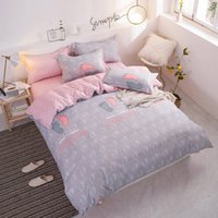 Wholesale foot bedding resale online - Little Feet Bedding Set King Size Cute Creative High End Duvet Cover Queen Fresh Single Full Twin Soft Bed Cover with Pillowcase