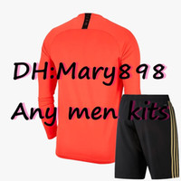 Wholesale long sleeve soccer jersey kit resale online - Any men Season long sleeves kits football jersey custom name and number need to contact Inquiry whether there is inventory