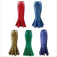 cauda de peixe saias de moda venda por atacado-Moda sexy vestido de sereia cintura alta cauda de peixe saia designer saia feminina atmosfera high-end moda fina saia
