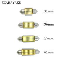 innen-dome-lampe für autos großhandel-ECAHAYAKU 20x 31mm 36mm 39mm 41mm C5W C10W CANBUS Fehlerfreie Auto-Girlande SMD 4014 LED-Innenraumleuchte für Innenraumbeleuchtung der Lampe