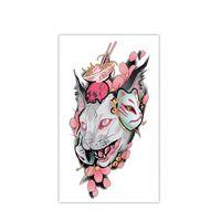vorübergehende katze tattoo großhandel-Katze Temporäre Tätowierung 3D Wasserdichte Tier Tattoo Aufkleber Arm Bein Mode Stil Körperkunst Abnehmbare Wasserdichte Tattoo Kunst Aufkleber HHA344