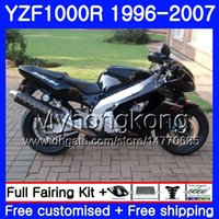 yamaha yzf thunderace großhandel-Körper für YAMAHA ALL Black hot thunderace YZF1000R 96 97 98 99 00 01 238HM.23 YZF-1000R YZF 1000R 1996 1997 1999 1999 2000 Verkleidungssatz