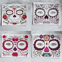 Wholesale tattoo sticker waterproof resale online - Disposable Eyeshadow Sticker Magic Eye Face Lace Style Waterproof Temporary Tattoo For Beauty Makup Stage Halloween Party RRA1105