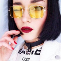 Wholesale funny sunglasses online - Square Small Retro Ocean Sunglasses Steampunk Funny Transparent Sun Glasses Vintage Punk Shades For Women Rave Party RRA145