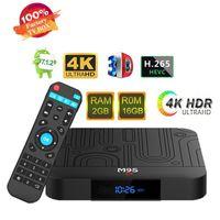 Wholesale mini pc 16gb ram resale online - Android Smart TV Box Amlogic S905W Quad Core GB RAM GB ROM M9S W1 Android Mini PC G G K H Streaming Media Player G Wifi