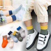 69395af3ccd 2018 Autumn Winter New Cotton Two Bars Tube Boy Girl Children s Sock Korean  Version Striped Sweat-absorbent Baby Kids Tide Socks