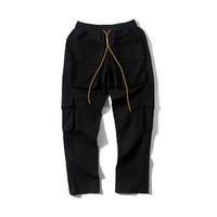 b0f0db4997a8f 2019 Best Version 1r:1 Military Men Pocket Jogger Pants Hiphop Streetwear  Men Pants Joggers Trousers Rhude