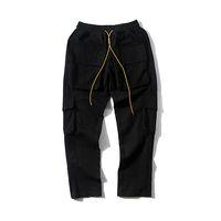 calças militares para homens venda por atacado-2019 Melhor Versão 1r: 1 Homens Militares Bolso Basculador Calças Hiphop Streetwear Calças Dos Homens Corredores Calças Rhude
