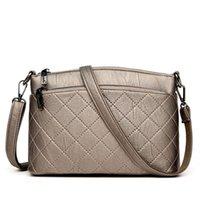gute qualität handtaschenmarken großhandel-Gute qualität Heißer Verkauf Mode Patchwork Leder Handtasche Designer Marke Weibliche Crossbody Umhängetaschen Damen Einfache Handtaschen
