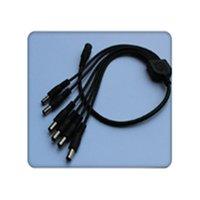 cable de alimentación cc de 12 v cctv al por mayor-Chinatera CCTV Cámara de seguridad 2.1 mm 1 a 8 puertos Divisor de potencia Cable Pigtails 12V DC Accesorios electrónicos