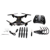 camara para control remoto de helicoptero al por mayor-Gran angular de control remoto para niños Drone helicóptero juguetes WIFI HD cámara de video plegable RC Quadcopter