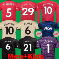 Wholesale james shirts for sale - Group buy 2020 JAMES Maguire player vertion man POGBA United Soccer Jerseys manchester maillots utd RASHFORD Kids Football Shirts Long kits