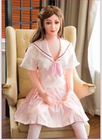 aufblasbare liebespuppen großhandel-Aufblasbare halbfeste Silikon-Puppe Japanische Real Love Dolls Erwachsener männliches Geschlecht spielt Silikon-Geschlechts-Puppe Realistische Sex Dolls