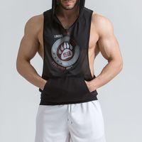 nuevo chaleco de gimnasia al por mayor-Chaleco sin mangas de secado rápido GYM Muscle Fitness Brothers New Summer Menh Armor Sports de secado rápido