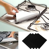 Wholesale 4 Removable Easy Clean Square Foil Gas Hob Protector Liner Reusable Easy Clean Protection Pad