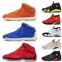 ingrosso hockey blu-nike air jordan farrari 14s 18s scarpe da basket da uomo in pelle scamosciata di lusso blu uomo rosso arancio Toro OG ASG scarpe da ginnastica DMP scarpe da ginnastica firmate