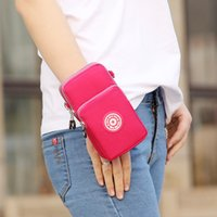 Wholesale shoulder pouch for men for sale - Group buy Universal Phone Bag Pouch For Women Men Man Coin Purse Cross Shoulder Bag Girls Cute Wrist Wags Mini Mobile Pouch Casual Handbag