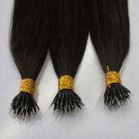 33 613 волос оптовых-Двухцветный бразильский нано-кольцо для наращивания человеческих волос цвет серый 33 30 12 613 60 0,8 г 1 г на пряди 200-й лот