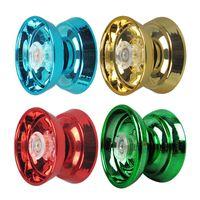 ingrosso torni cnc-Tornio a controllo numerico Yo-yo in lega di alluminio ad alta velocità Magic Yoyo a 4 colori con filo rotante per ragazzi, ragazze, bambini, bambini