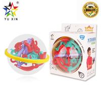 yapboz sihirli küre toptan satış-2019 YUXIN 3D Bulmaca Labirent Top Sihirli Akıl Topu Labirent Küre Küre Oyuncaklar Zorlu Engelleri Oyunu Beyin Tester Bulmacalar