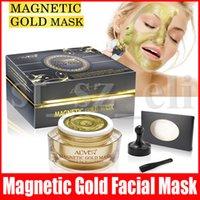 masque hydratant soin des pores achat en gros de-ALIVER Masque d'or magnétique purifiant Masque profond nettoyage Masque Soins du visage Traitement hydratant hydratant la peau Shrink Pores