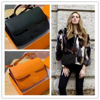 malas de avião venda por atacado-Venda quente mulheres bolsas de grife bolsas aeromoça companhia aérea com caixa de couro genuíno Mulheres Messenger Bags Bolsas Mulheres Sacos Crossbody