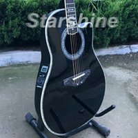 Wholesale high quality new electric guitar for sale - Group buy Starshine Top Quality Acoustic Guitar ZZ OV Solid Spruce O vation Style Electric Acoustic Guitar High Quality Back side