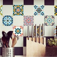 Wholesale kitchen wall tiles designs for sale - Group buy Tile Sticker Waterproof Bathroom Kitchen Wall Stickers Self Adhesive Mosaic Marble Morroco Style Backsplash Tiles Brick Decor Design
