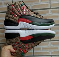 ingrosso scarpe da basket di uomini-2019 Scarpe da pallacanestro da uomo 12s di qualità migliore 12 Scarpe da ginnastica bianche da uomo di colore rosso da donna, taglia 7-13, con scatola