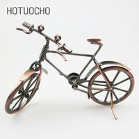 Wholesale bicycle decor for home resale online - Hotuocho Creative Iron Art Bicycle Model Metal Handicraft Ornaments Home Decor Miniature Figurines Gift Craft For Kids Friends T200703