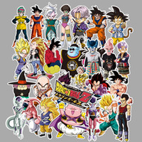 Wholesale waterproof decals motorcycle for sale - Group buy DRAGON BALL Stickers series paster collection decals scrapbooking Kids Toy DIY Motorcycle Waterproof Stickers