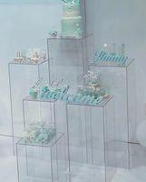 estandes de artesanato venda por atacado-Flores clara vaso Suporte acrílico flor Bouquet está centrais do casamento estrada exibição ofício Janela corredor leva flores do casamento cenários