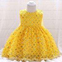 ingrosso porcellana boutique delle ragazze-New Fashion Cina Produttore Neonate Celebrity Boutique Cotone Lino Party Dress L1847XZ